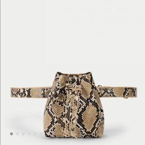 Snake Print Waist Bag